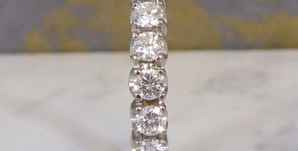 Vintage Diamond Wedding or Eternity Ring, 1.98 Carat , Preowned, Hallmarked 1999