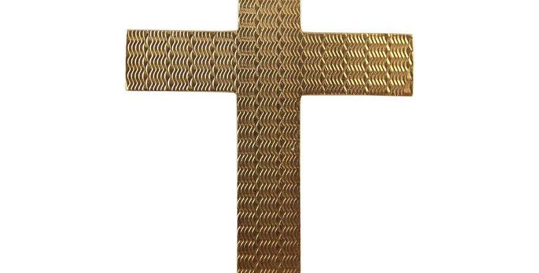 Art Deco Gold Cross, Hallmarked 9 Carat Rose Gold, Birmingham, 1924