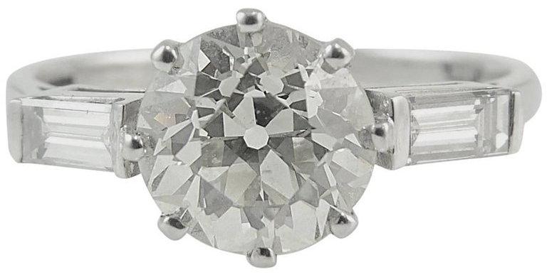 Antique Old European Cut Diamond Solitaire Ring, 1.52 Carat