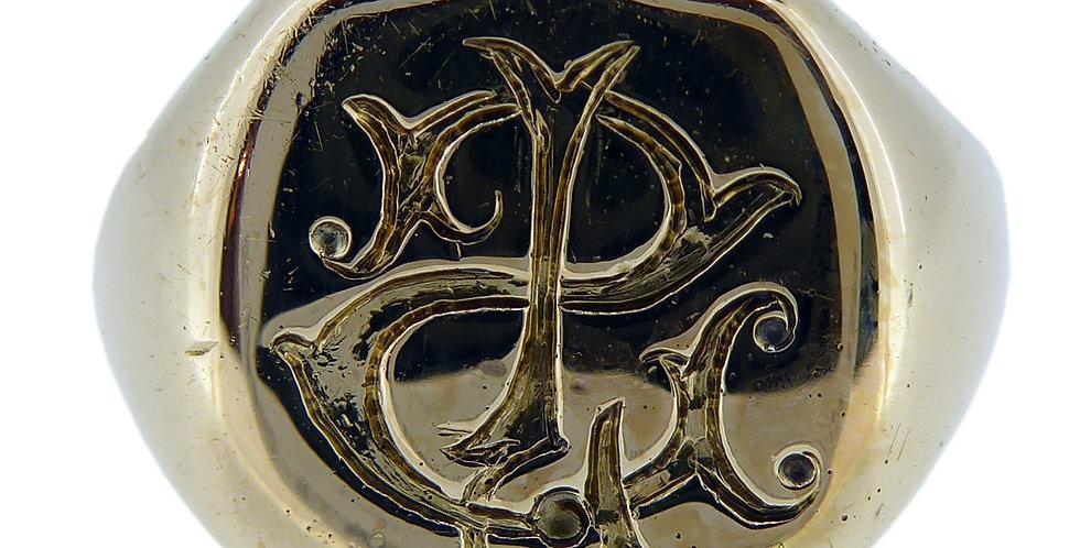Antique Victorian Gold Signet Ring Hallmarked Chester 1892