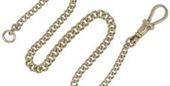 Antique Art Deco Rose Gold Bracelet, Albert Watch Chain, Circa 1920s