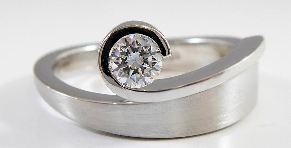 Avant Guard Solitaire Diamond Ring, D Flawless, 0.25ct, Platinum
