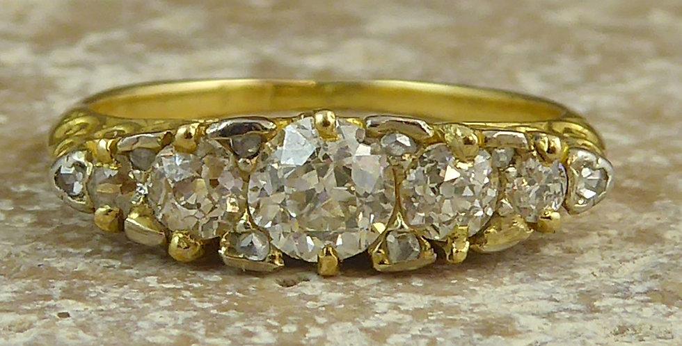 Antique Old Cut Diamond Ring, 0.80ct, Circa 1900