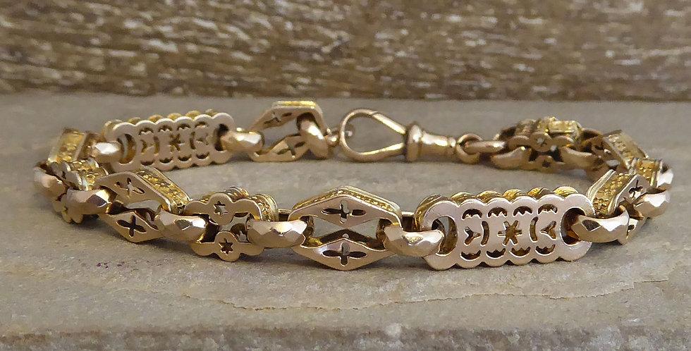 Victorian Half Albert Watch Chain Bracelet, Circa 1900