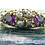 Thumbnail: Antique Gemstone Ring Set with Garnet Coloured Paste & Pearls  in 15ct Gold