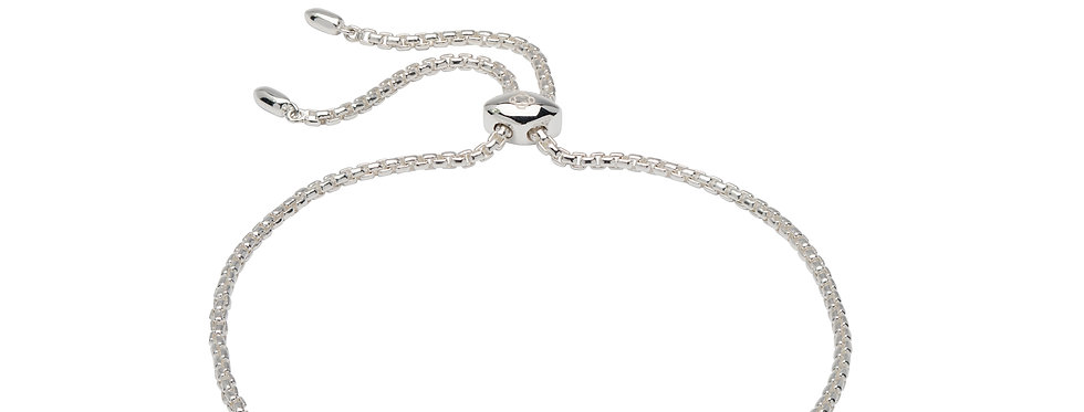 Contemporary Silver Bracelet with CZ