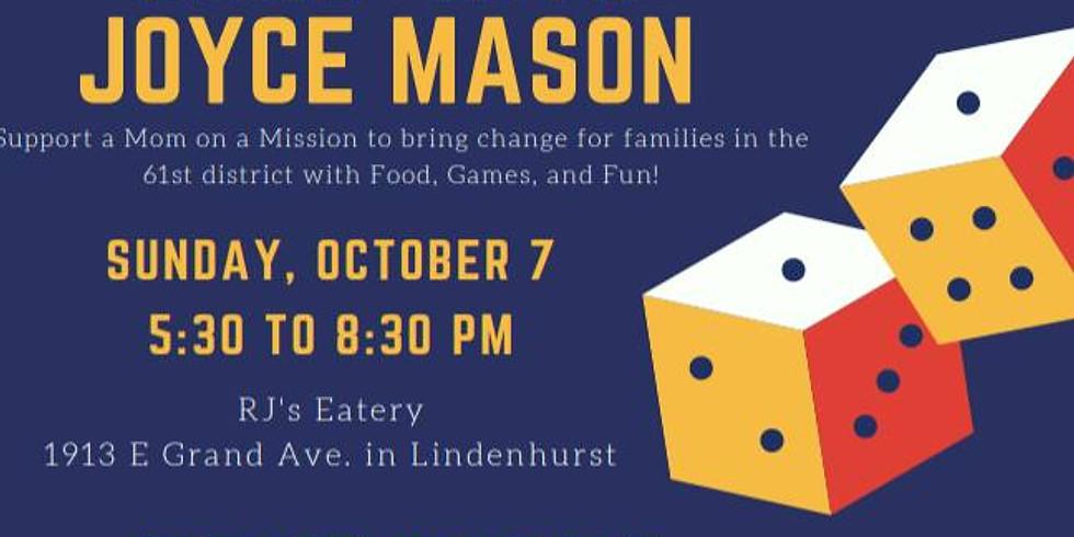Pizza Party and Family Fun Night with Joyce Mason