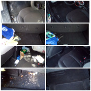 Interior clean before and after