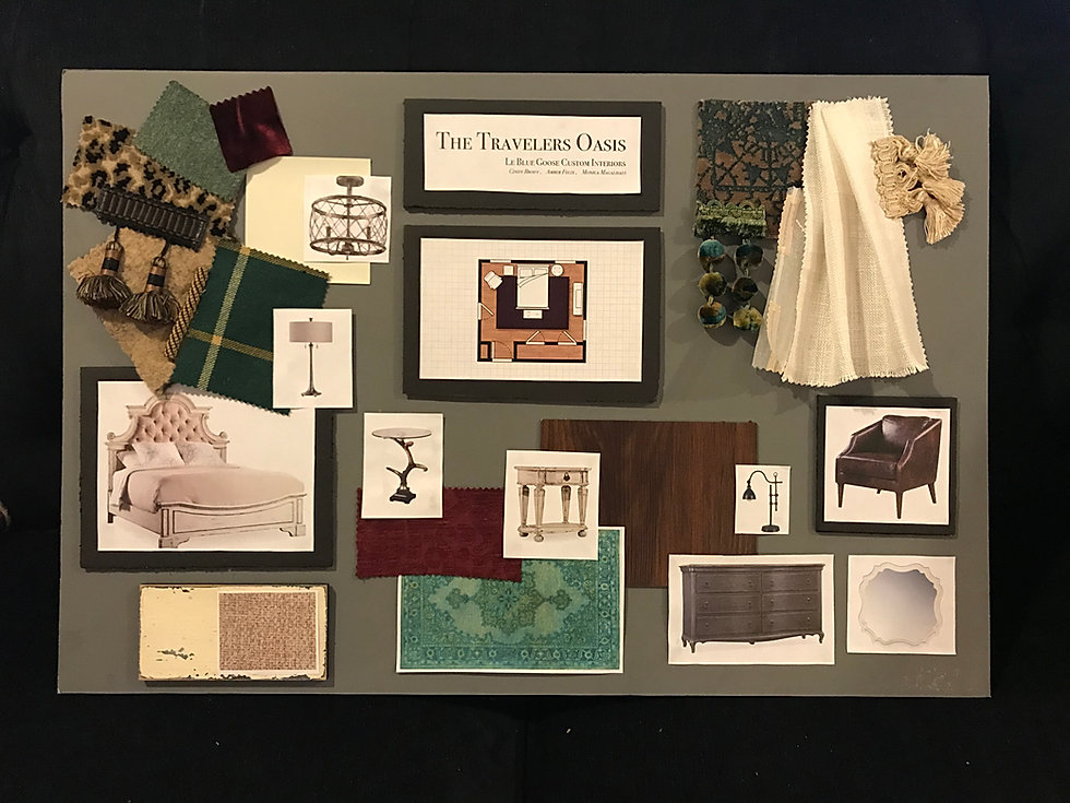 Le Blue Goose Design Board for Bucks County Designer Show House