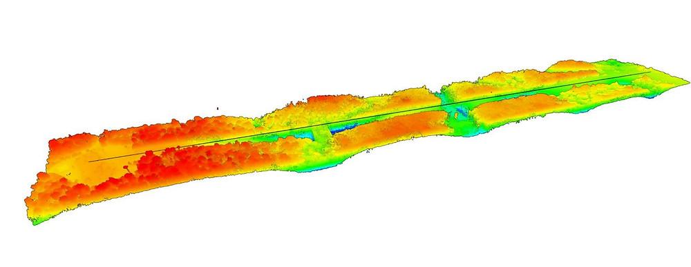 Lidar lasergrammetry digital terrain model