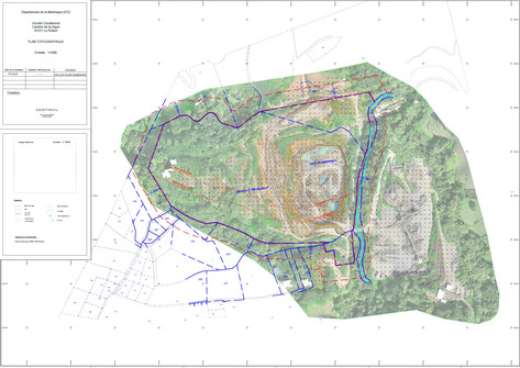 Plan topographique de carriere Martiniqu