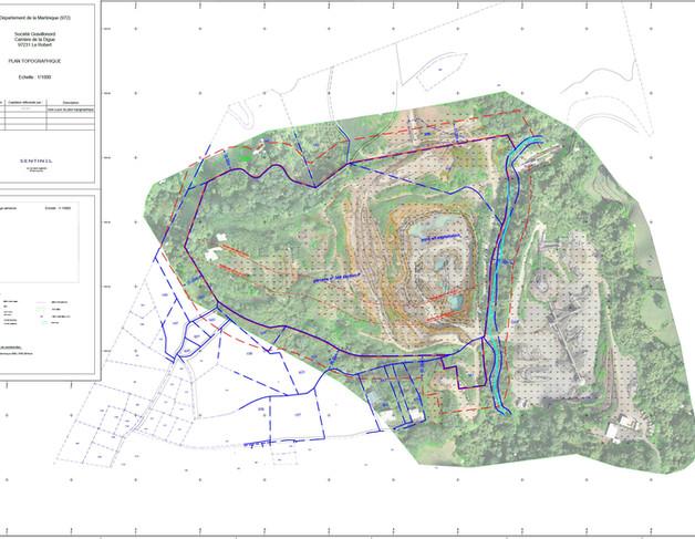 Plan topographique de carriere Martiniqu