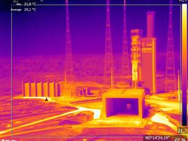 Inspection drone thermique pour Ariane 5