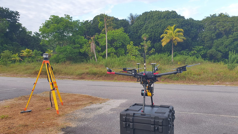 Topography lidar mission with a drone