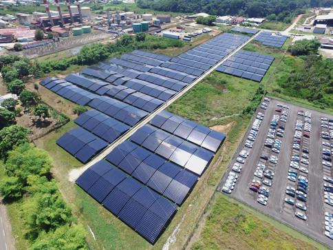 Vue d'ensemble de la ferme solaire