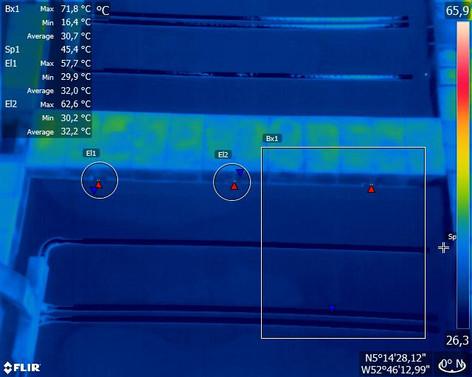 Inspection thermique au Centre Spatial