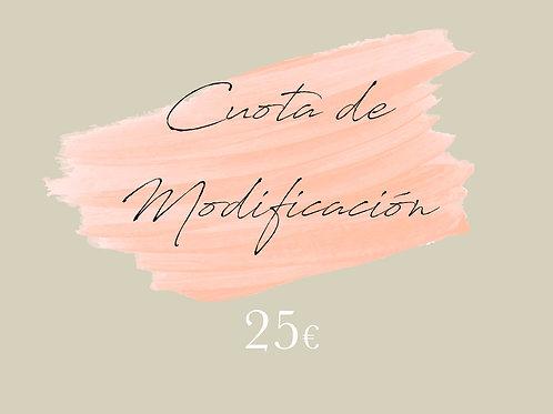 Cuota de modificación 25€