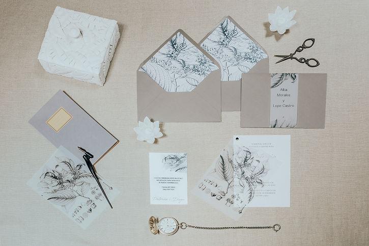 Invitaciones de boda originales de papel vegeta