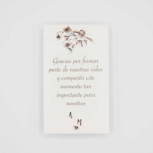 invitaciones de boda otoñales, invitaciones de boda otoño, invitaciones de boda algodon, tarjetas agradecimiento