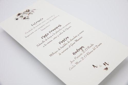 invitaciones de boda otoñales, invitaciones de boda otoño, invitaciones de boda algodon, minutas de boda