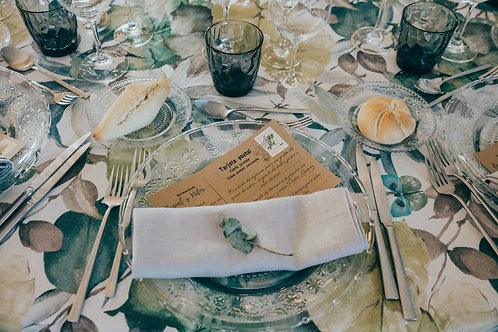 minutas papel kraft, invitaciones papel kraft, sellos vintage, invitaciones de boda tropicales, invitaciones de boda vintage