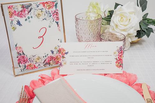 invitaciones de boda peonias, invitaciones papel vegetal, invitaciones papel cebolla, minutas de boda