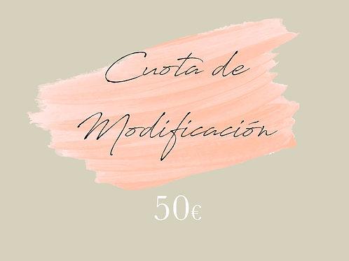 Cuota de modificación 50€