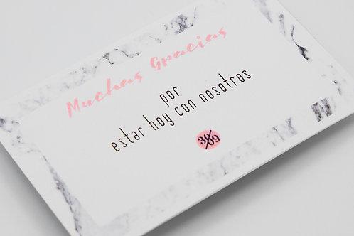 tarjetas agradecimiento, invitaciones de boda marmol, invitaciones de boda geométricas, invitaciones de boda modernas