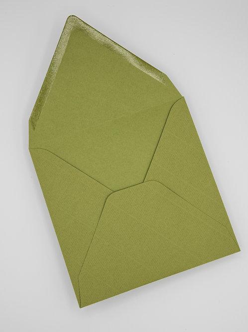Sobre cuadrado verde oliva sin forrar