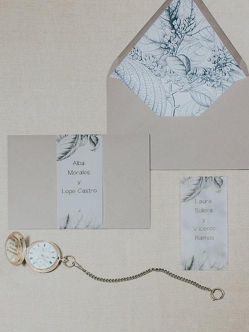 invitaciones de boda de papel vegetal, invitaciones papel cebolla, invitaciones en blanco y negro, invitaciones elegantes