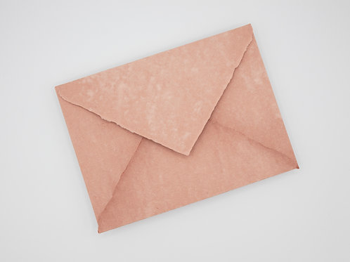 Sobre de papel hecho a mano sin forrar