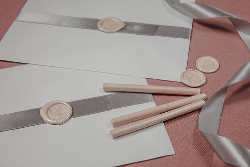 invitaciones de boda cerezo, invitaciones flor de cerezo, invitaciones de boda rosa, sobres cerrados con lazada