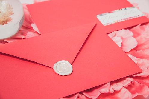 invitaciones de boda peonias, invitaciones papel vegetal, invitaciones papel cebolla, lacre cera rosa