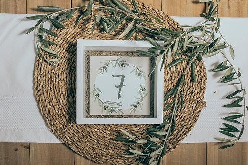invitaciones de boda modernas, invitaciones de olivos, invitaciones de boda con olivos, invitaciones cuadradas, meseros