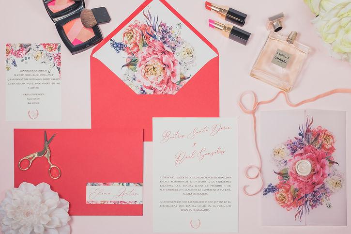 Invitaciones de boda papel vegetal