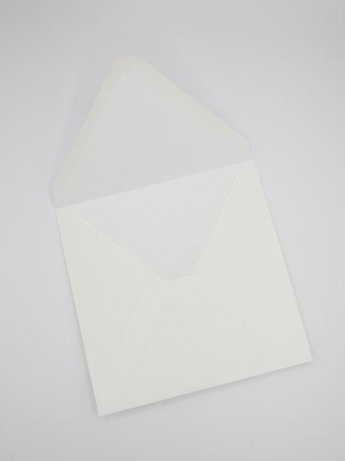 Sobre cuadrado blanco sin forrar