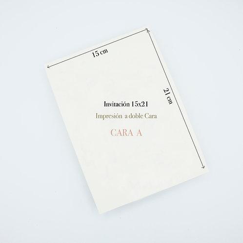 Invitación 15x21cm impresa a Doble Cara