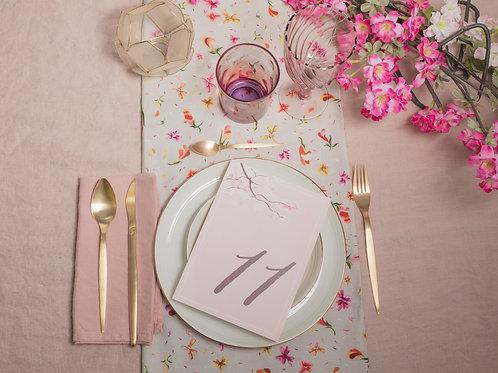 invitaciones de boda cerezo, invitaciones flor de cerezo, invitaciones de boda rosa, meseros de boda