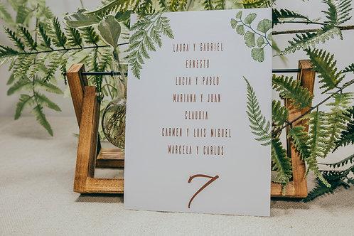 seating plan boda, invitaciones de boda madera, invitaciones de boda helechos, invitaciones de boda originales