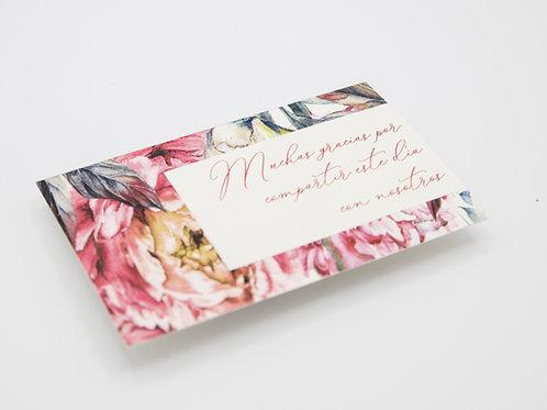 invitaciones de boda peonias, invitaciones papel vegetal, invitaciones papel cebolla, tarjeta agradecimiento boda