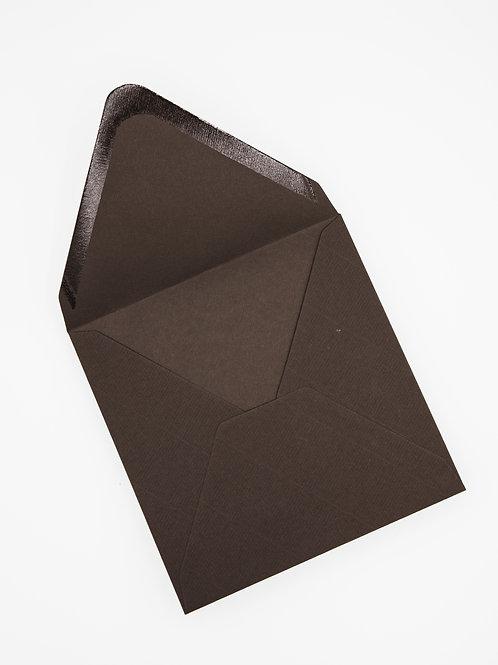 Sobre cuadrado marrón sin forrar