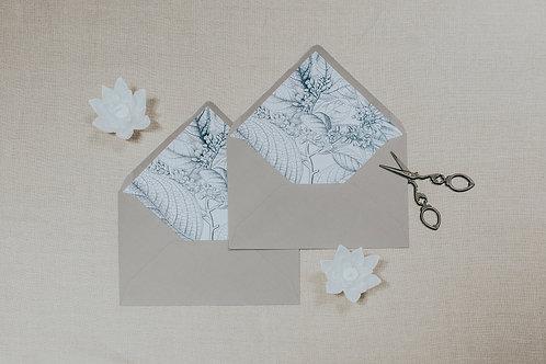 invitaciones de boda de papel vegetal, invitaciones papel cebolla, invitaciones de boda en blanco y negro, sobre forrado gris