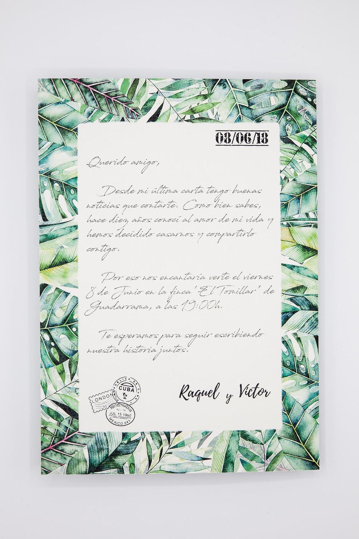 Invitaciones de boda en forma de carta