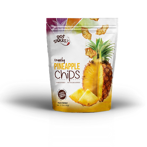 Crunchy Pineapple Chips 56g. (a pack of 6)
