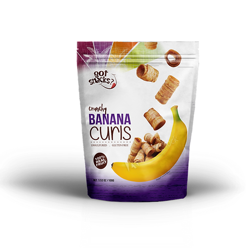 Crunchy Banana Curls 100g. (a pack of 6)