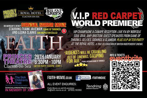 VIP TICKET to Faith Movie UK Premiere