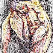 nu homme 50 x 65 cm Encre de chine, Cray