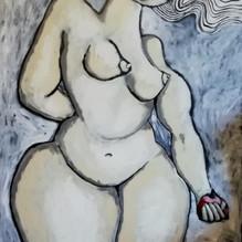 Femme à la pomme