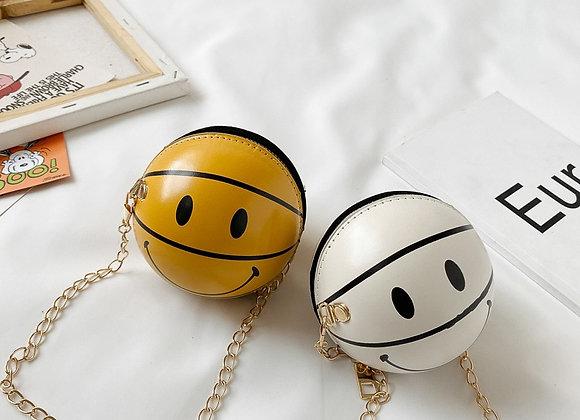 New Children's Shoulder Bag Cool Smiley Face Basketball Bag