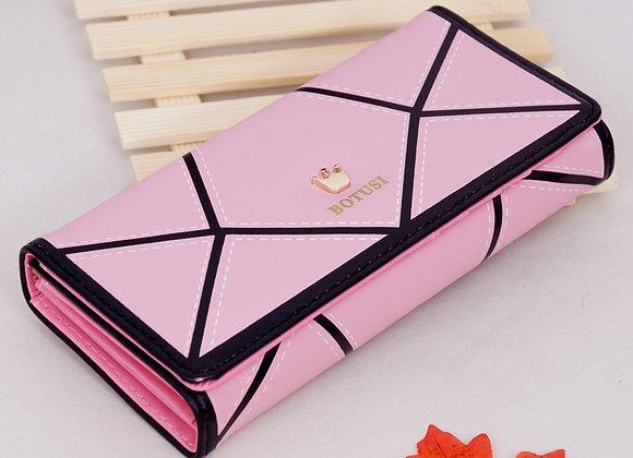 2020 New Crown Korean Version of the Geometric Women's Wallet Mobile Phone Bag